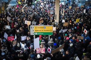 移民行政命令引多地抗議 特朗普推文為政策辯護