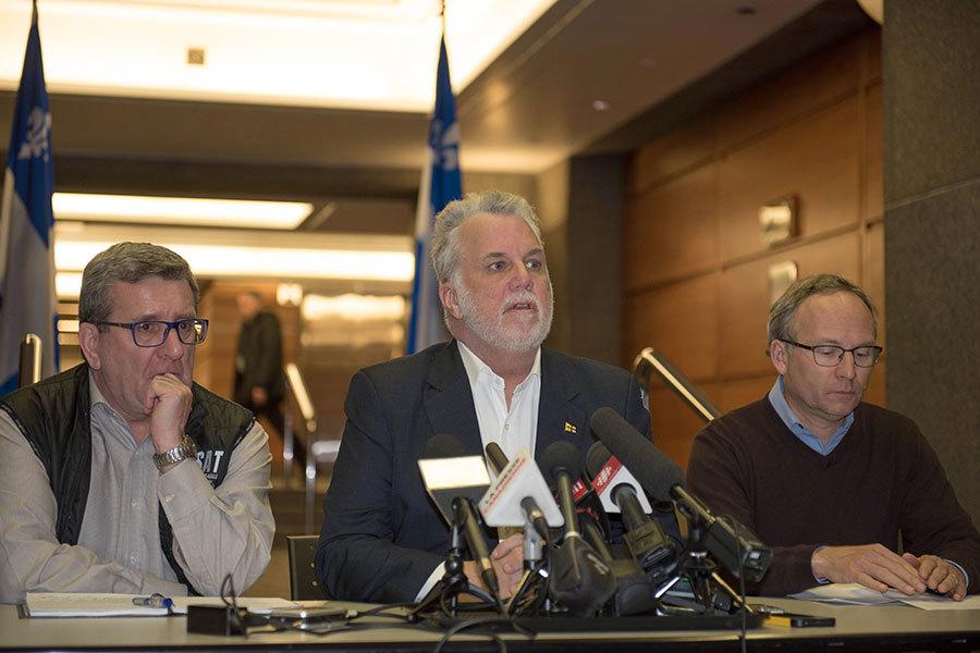 當局在魁北克城召開新聞會。(ALICE CHICHE/AFP/Getty Images)
