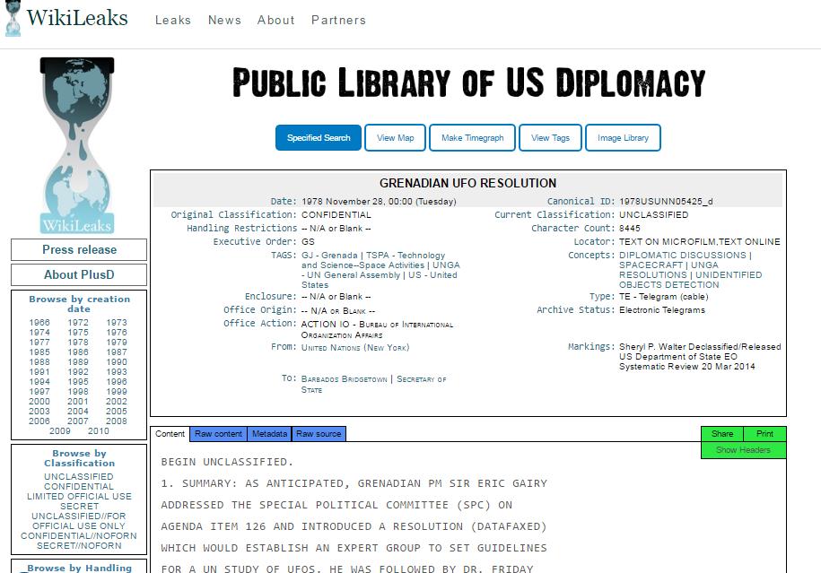 維基解密披露的聽證會外交密件(維基解密網頁擷圖)