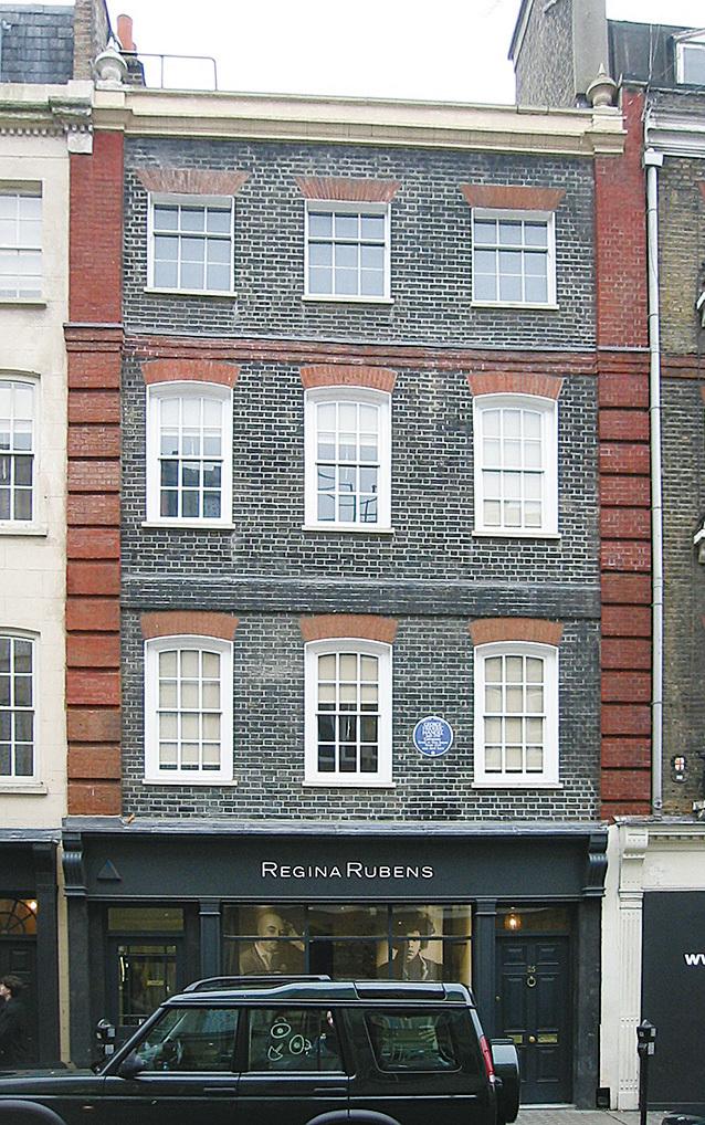 韓德爾位於倫敦的故居。(公有領域)