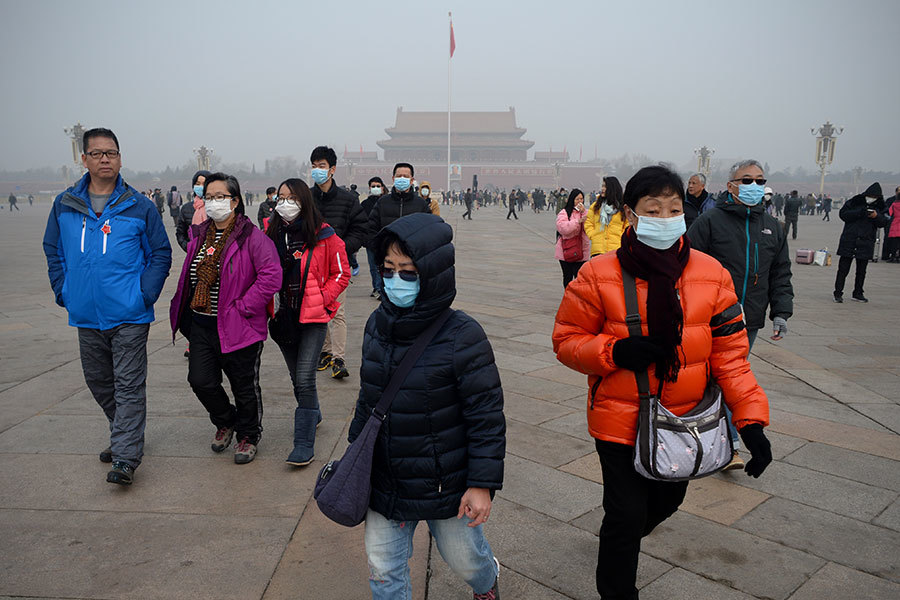 中國環境污染問題嚴重。(WANG ZHAO/AFP/Getty Images)