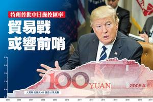 特朗普批中日操控匯率 貿易戰或響前哨