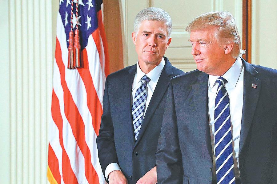 特朗普提名最高法院大法官