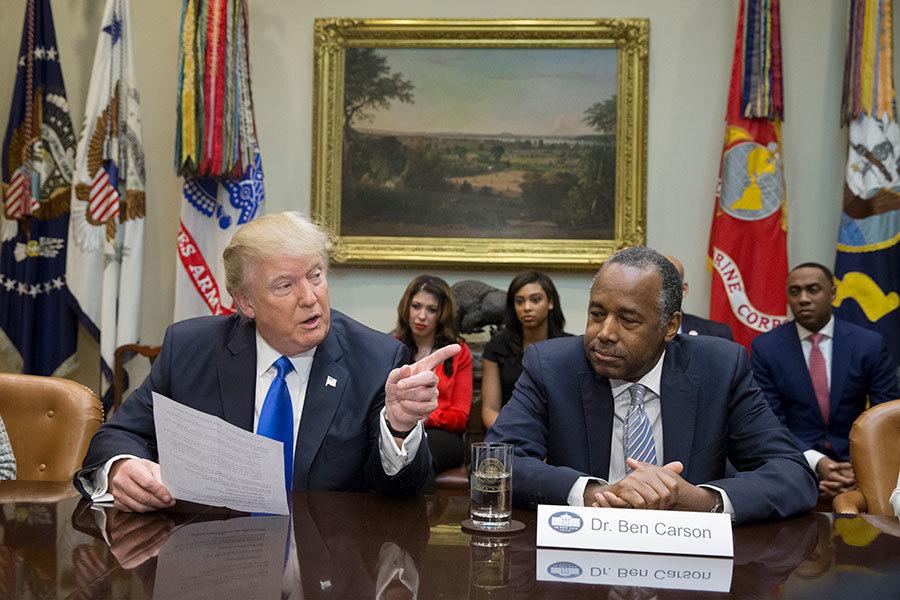 特朗普(川普)總統2月1日抨擊媒體報道假新聞,並說他不看CNN新聞。圖為特朗普出席「非裔美國人歷史月」慶祝活動。(Michael Reynolds-Pool/Getty Images)