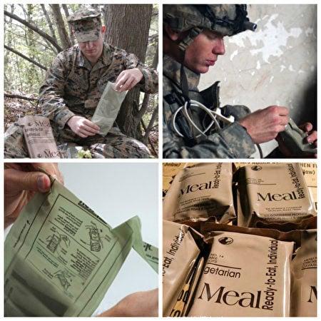 網民表示,美軍在30多年前就已經給單兵配備了MREs(自加熱食品套餐),即使在及其嚴寒的天氣環境,也能吃上熱食(hot meals)。(網路圖片)