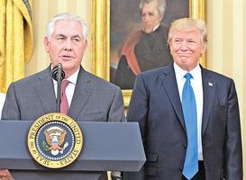 蒂勒森成功獲任國務卿 特朗普外交將全面啟動