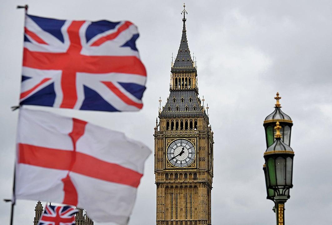 英國國會下議院以384-114票的壓倒性多數通過英國政府提交的脫歐法案,最快將於今年3月底啟動脫歐。(AFP)
