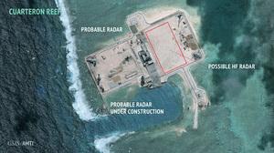 中共疑在南海華陽礁設雷達