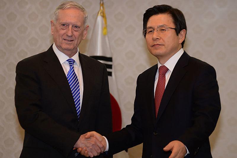 安撫日韓?美防長訪韓 承諾攜手打擊北韓
