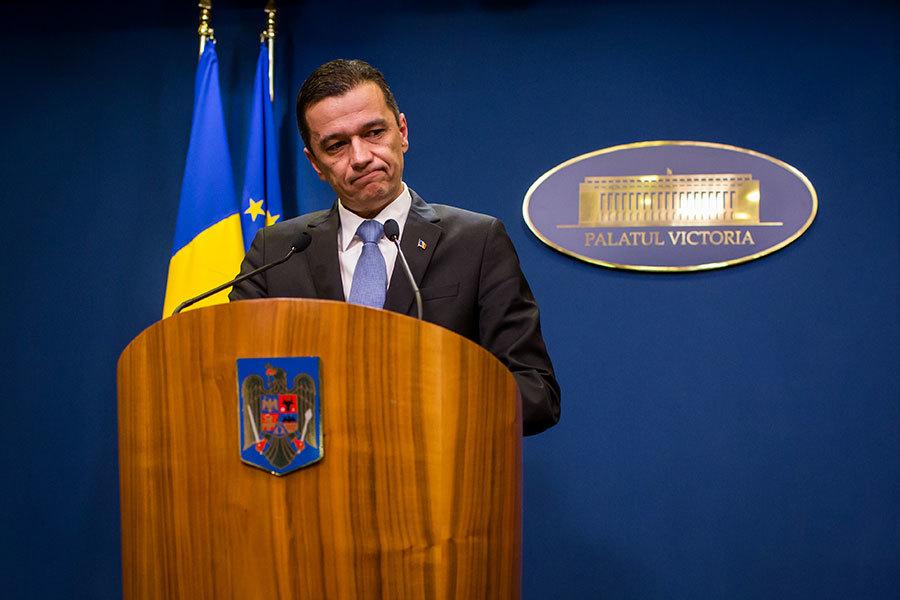 羅馬尼亞總理葛林多努宣佈,羅馬尼亞政府5日將撤銷讓特定貪腐除罪化的一項緊急命令。(ANDREI PUNGOVSCHI/AFP/Getty Images)