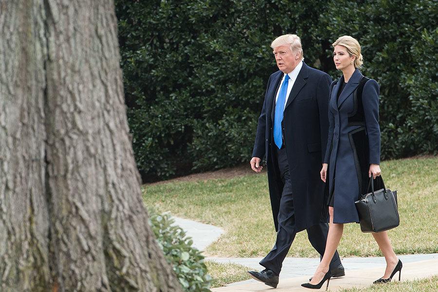 美國總統特朗普的大女兒、第一千金伊萬卡(Ivanka Trump,台譯 :伊凡卡)目前並沒有白宮官方頭銜,但在很多重要場合都有她的身影。(NICHOLAS KAMM/AFP/Getty Images)