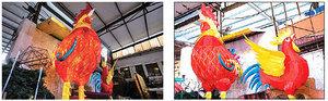 【圖片新聞】杭州工人趕製雞燈籠