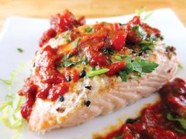 甜椒醬烤三文魚 給家人甜蜜驚喜