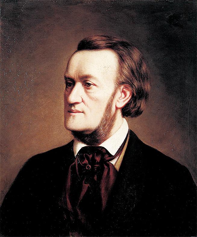 德國古典音樂大師威廉‧理察‧華格納(Wilhelm Richard Wagner,1813~1883)(公共領域)
