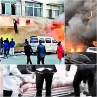 浙江足浴店致命大火 疑汗蒸房地暖爆炸