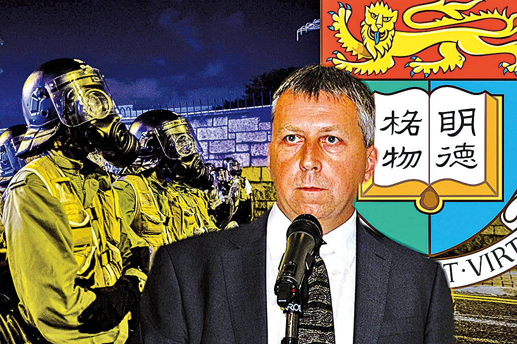 馬斐森曾發公開信,譴責警方向「佔中」集會市民施放催淚彈。(大紀元資料圖片)