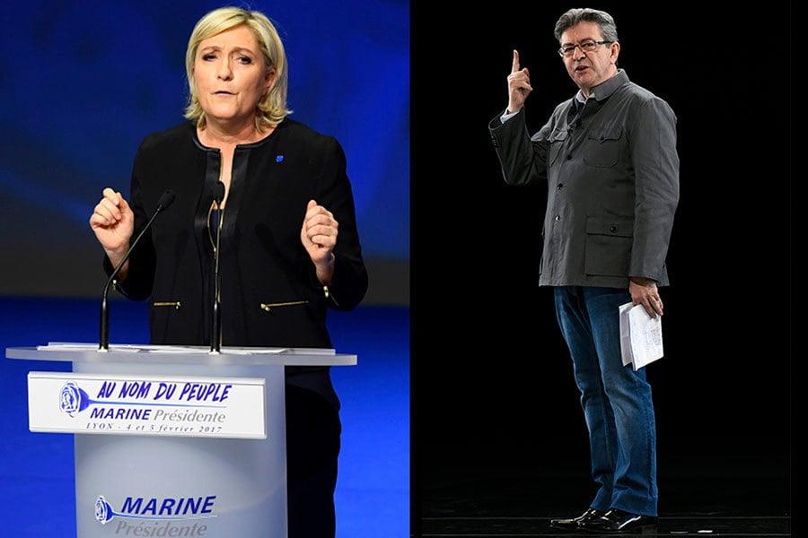馬琳勒龐和梅朗雄兩人均曾參加上一屆2012年的法國總統大選。(Getty Images/大紀元合成圖)