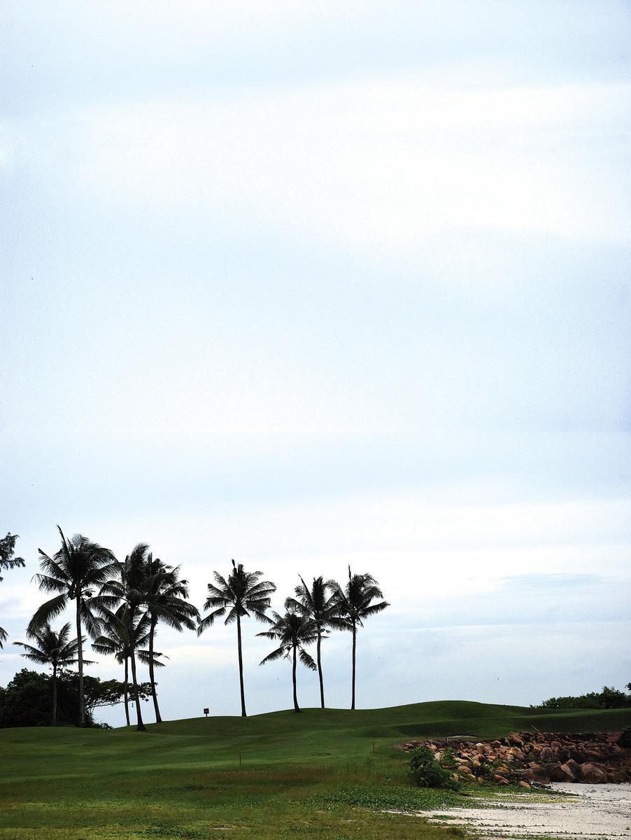 民丹島礁湖度假村的環境優美,是可以遠離塵囂、放鬆身心的度假聖地。(孫明國/大紀元)