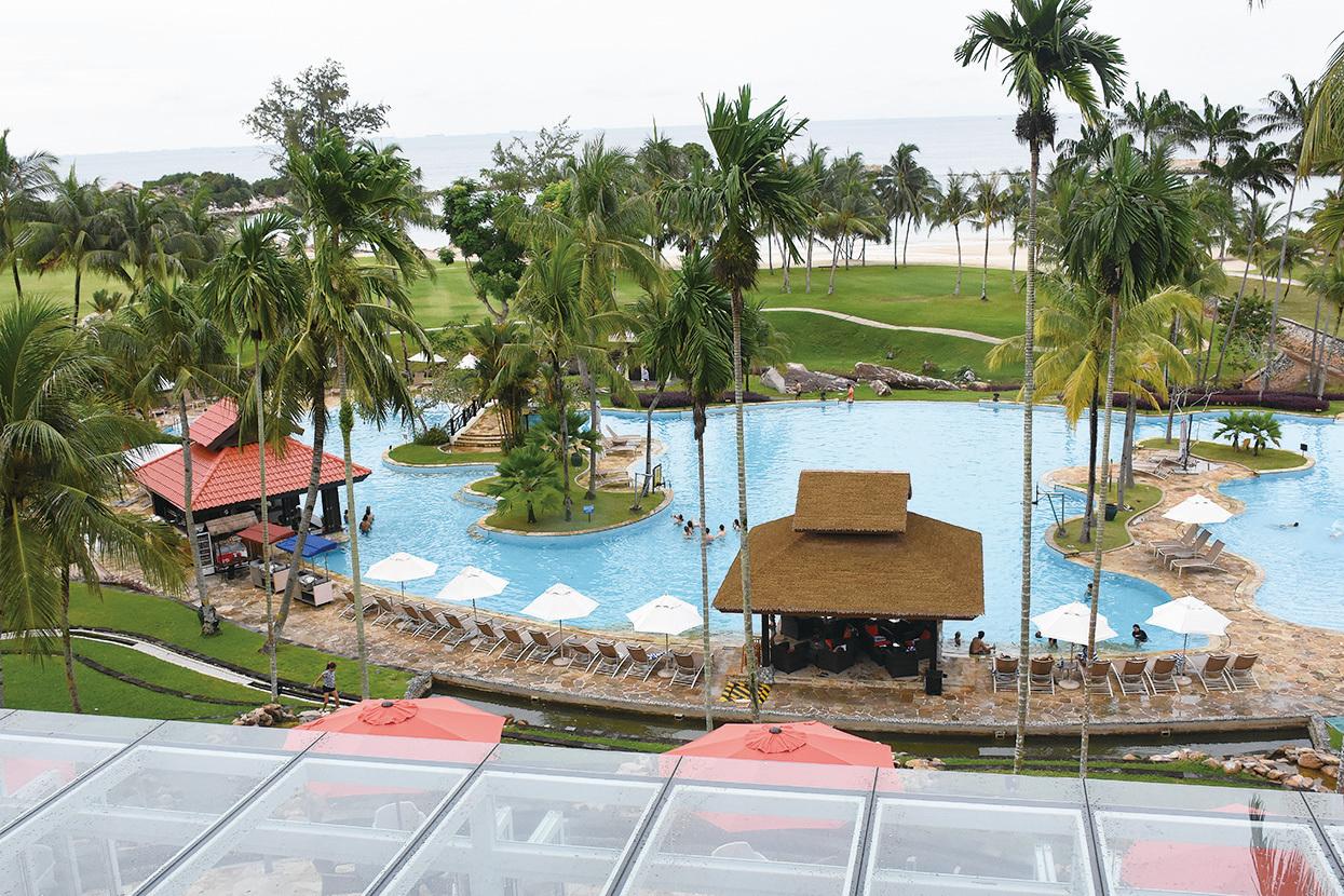 Bintan Lagoon Resort, BLR,民丹島礁湖度假村是一家老小放鬆身心、休閒的好去處。(孫明國/大紀元)