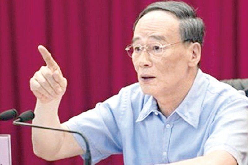 中共中央巡視工作領導小組組長王岐山。(網絡圖片)