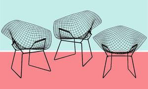20世紀經典名椅系列 鑽石椅 Diamond Chair