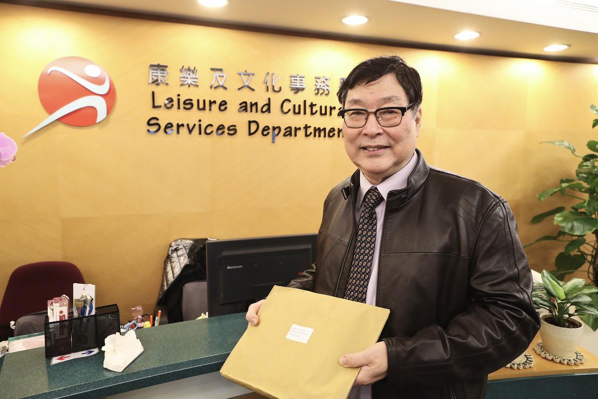 新唐人電視台香港分公司總經理朱長民。(余鋼/大紀元)