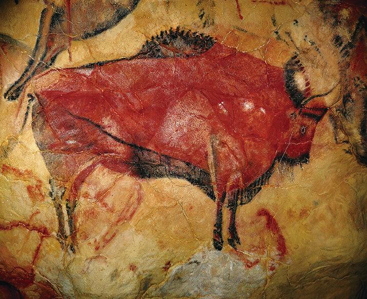 圖片1 所示的是西班牙北部的阿爾塔米拉地區(Altamira)洞窟中發現的野牛(Bison)岩洞壁畫。(網絡圖片)