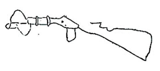 圖片7 :令人感到奇怪的是,「跳舞小提琴家」大腿上繫了一支來福槍。