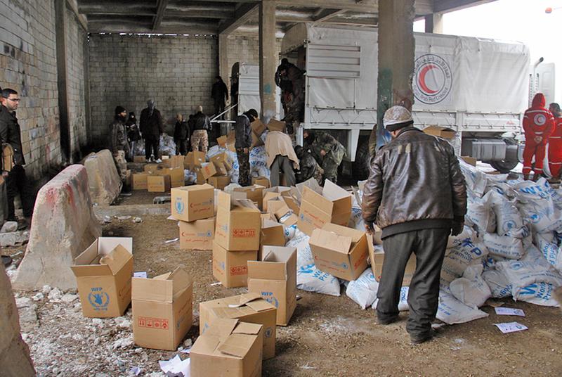 聯合國首次人道空投敘利亞