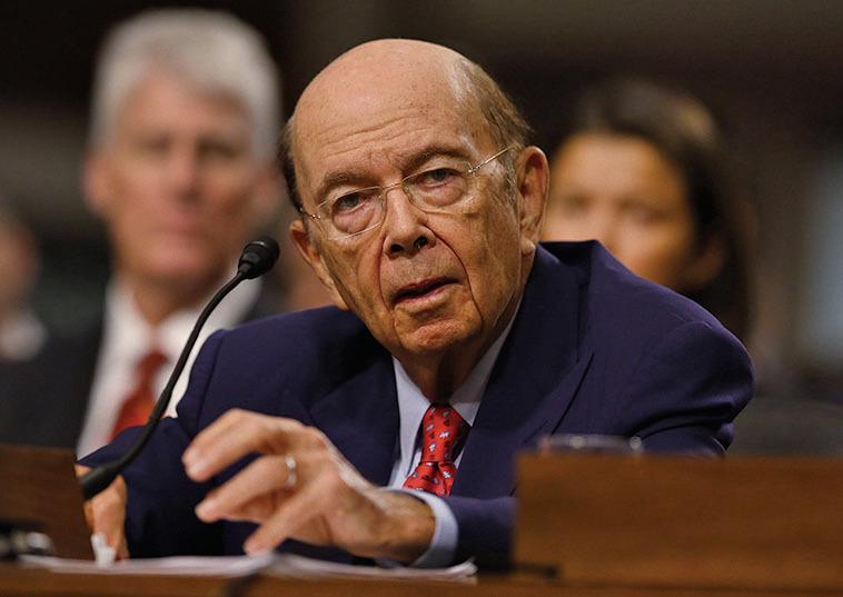 美國商務部長提名人羅斯(Wilbur Ross),因與中國最大主權財富基金有商業關係而遭到質疑。(Getty Images)