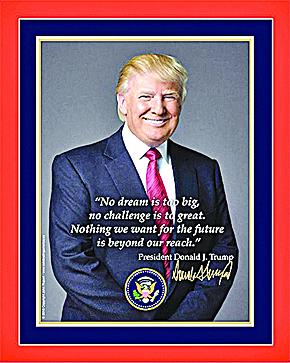 特朗普官方就職肖像 國會圖書館拼錯字