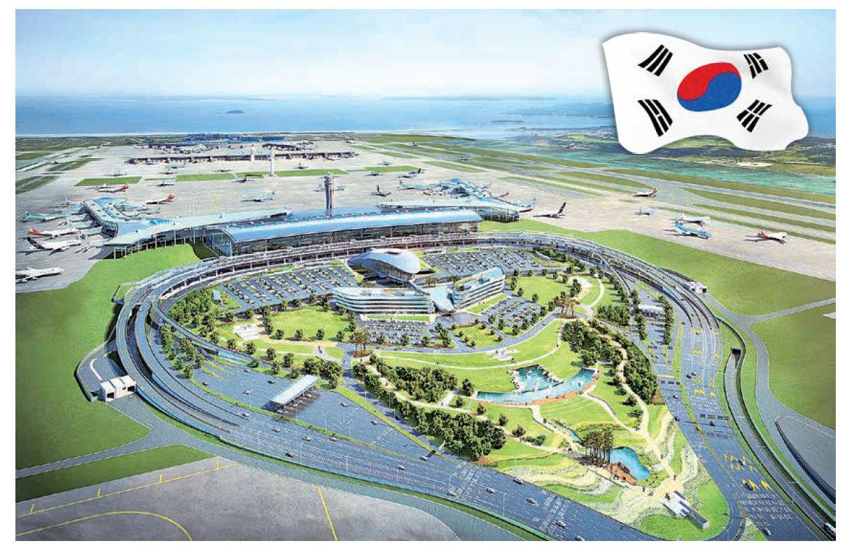 仁川機場第二航站樓俯瞰圖。(newsis提供)