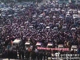 大慶萬民抗議污企再掀高潮 警封路大肆抓捕