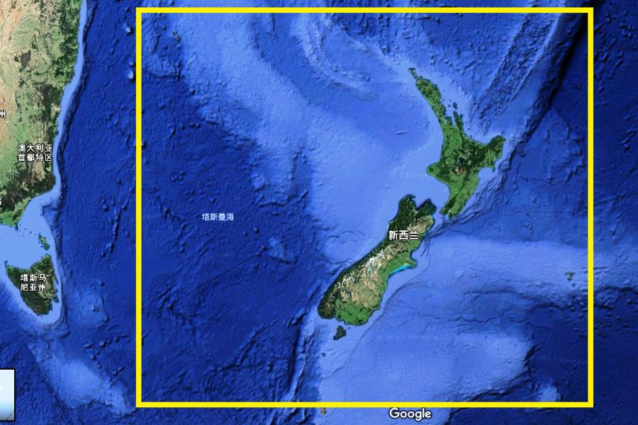 研究:新西蘭水下現新大陸 或成第八大洲