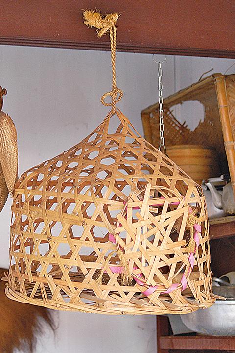 早期農業社會用的竹簍 (攝影:王嘉益 / 大紀元)