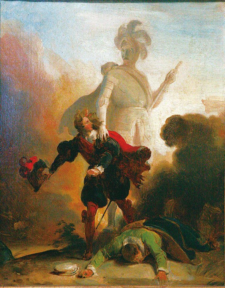 唐.喬凡尼被拖下地獄。Rama作品。(維基百科)