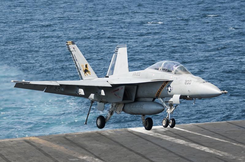美國海軍的F/A-18F超級大黃蜂戰機。(AFP)