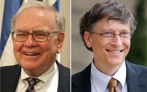 巴菲特請微軟創始人比爾・蓋茨吃午餐時,不僅選擇麥當勞,還使用折扣券。(AFP)