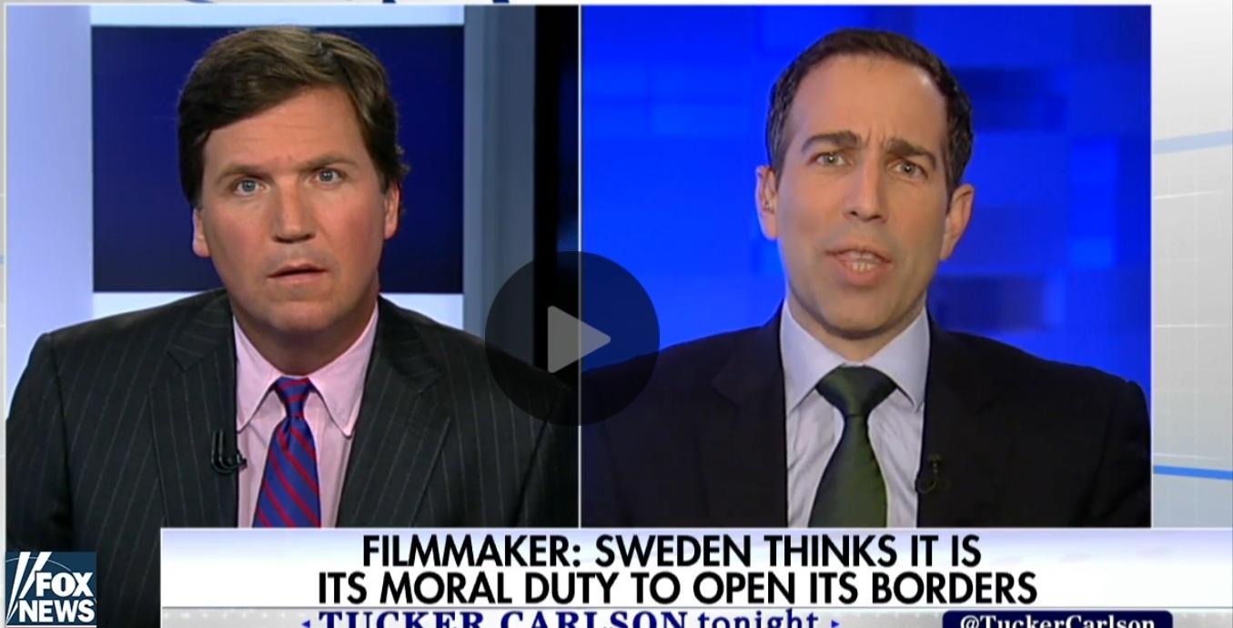 19日,特朗普澄清,18日他在集會上發言中的「昨晚瑞典」是指17日霍士新聞探討瑞典難民犯罪問題的電視節目。(視像擷圖)