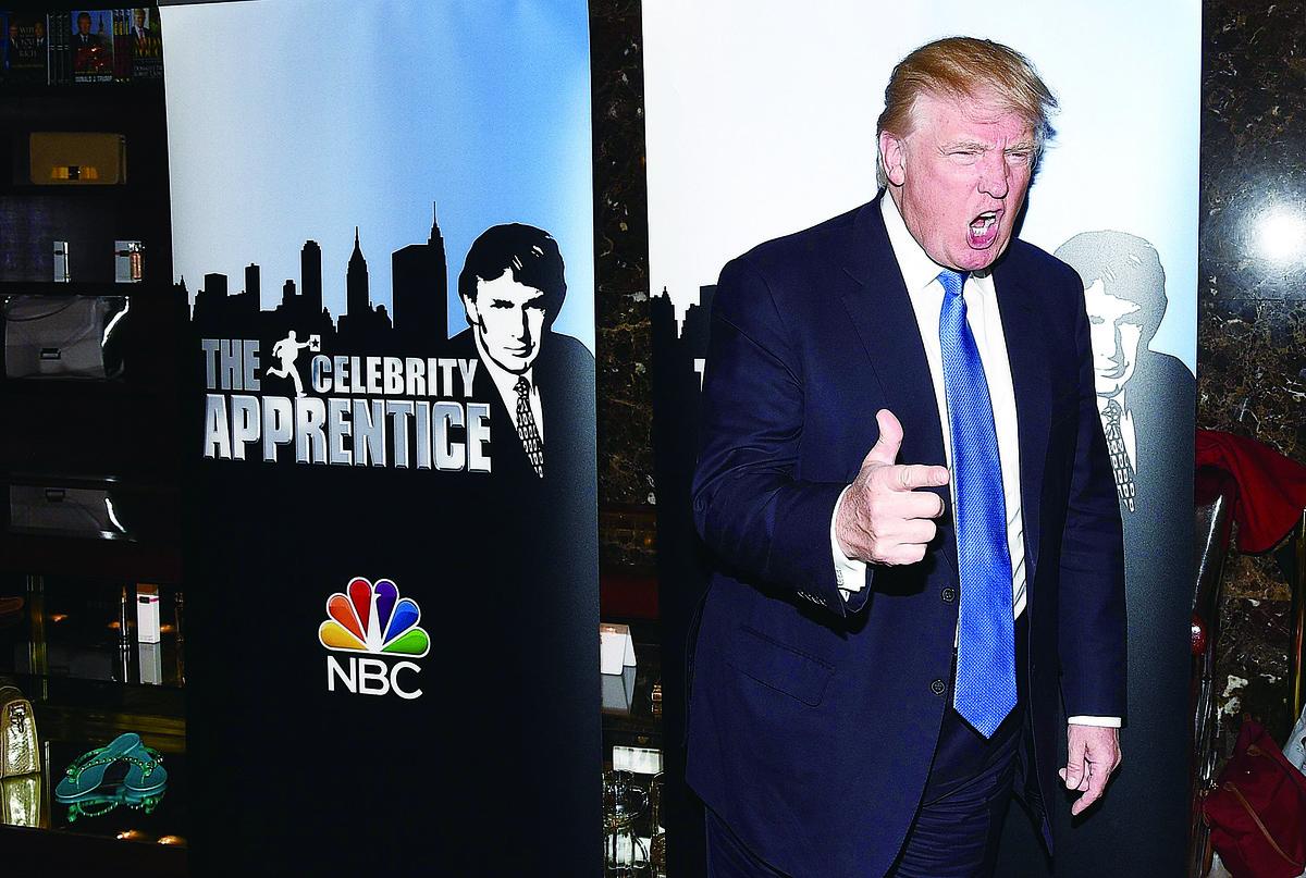 電視真人秀《飛黃騰達》使特朗普成為家喻戶曉的電視名人。(Getty Images)