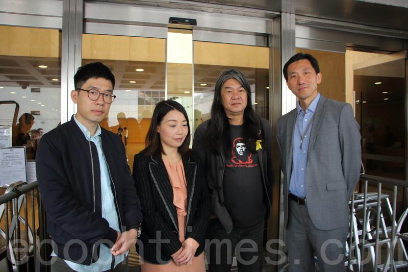 羅冠聰、劉小麗、姚松炎就宣誓司法覆核案申請法援被拒,3人早前提出上訴,昨日被高等法院駁回。(蔡雯文/大紀元)