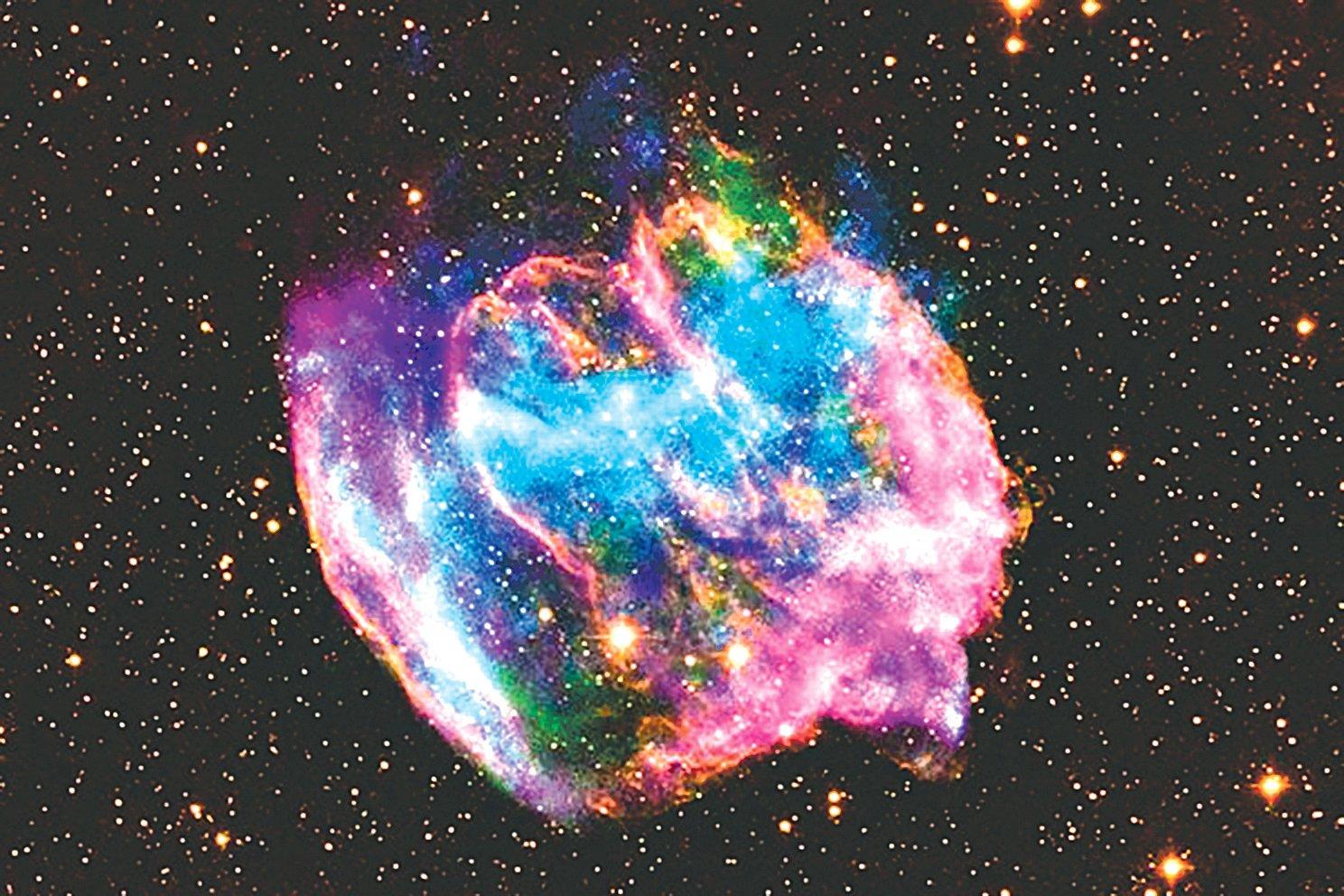 W49B超新星殘骸可能含有銀河系中最年輕的黑洞。(NASA)