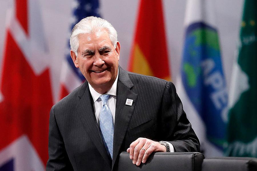 美國務卿蒂勒森(如圖)及國土安全部長凱利2月22日連袂出訪墨西哥,與墨國總統潘尼亞涅托及其他高級行政及軍方官員會談,各界關注五大看點。(Friedemann Vogel/Pool/Getty Images)