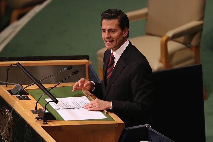 墨國總統潘尼亞涅托(Enrique Pena Nieto)。(John Moore/Getty Images)