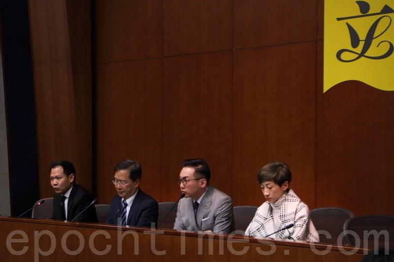 公民黨議員郭家麒認為,預算案提及本年度私人房屋土地可以興建3萬2千個潛在的房屋單位,只是「得個講字」。(蔡雯文/大紀元)