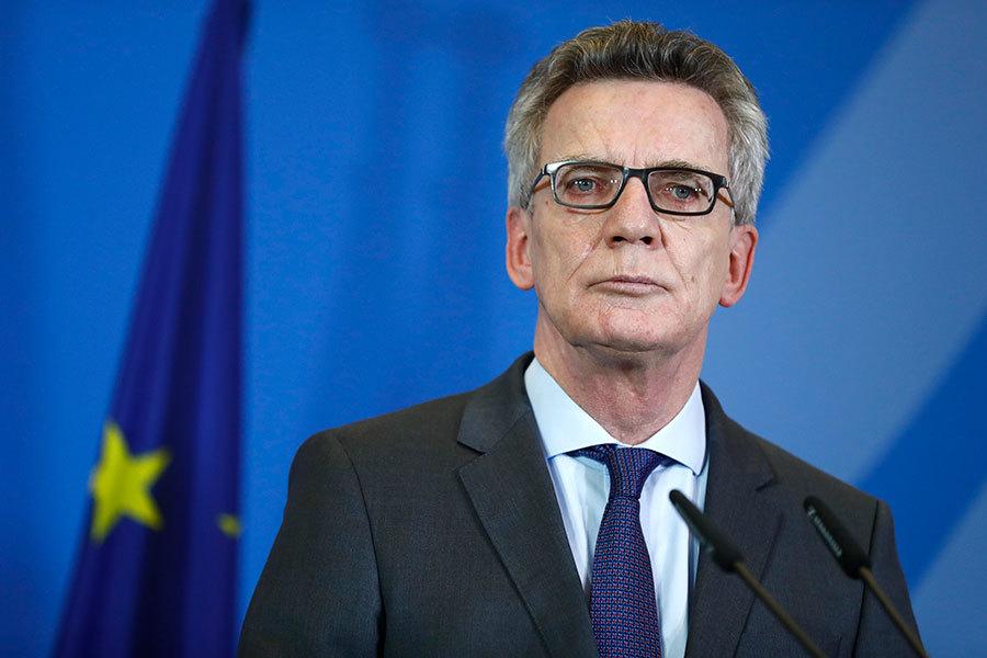 圖為德國聯邦內政部長德邁齊埃。(ODD ANDERSEN/AFP/Getty Images)