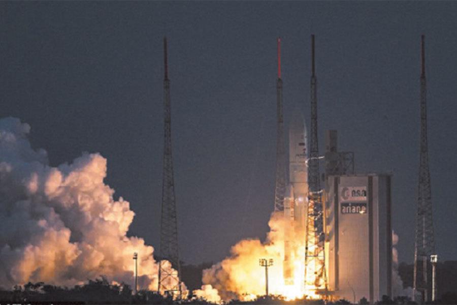 衛星發射瞬間。(Getty Images)