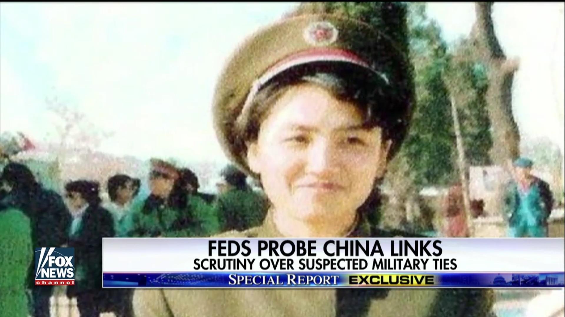 陳燕平身著中共軍裝。(FOX新聞視像擷圖)