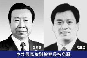 中共最高檢副檢察長被免職