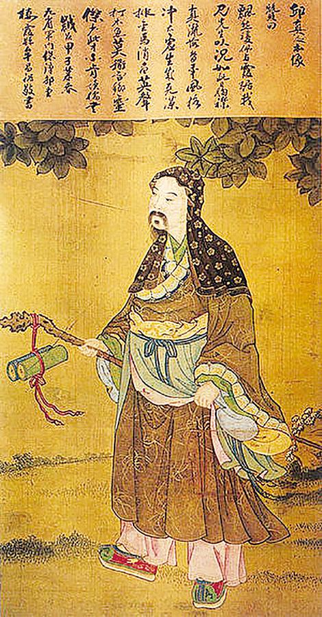 ▲ 北京白雲觀藏丘真人(丘處機)本像圖。(公有領域)